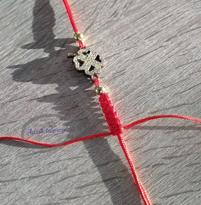 Adzik tworzy - bransoletki DIY makramowe z łącznikiem
