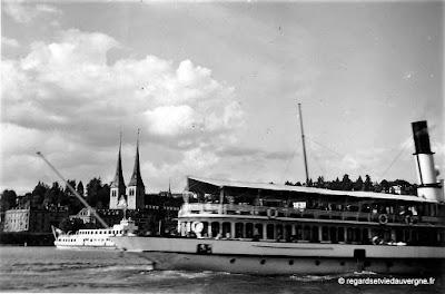 Photo ancienne noir et blanc: vacances