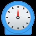 Zdjęcie przedstawia zegar odmierzający czas.
