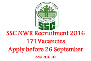 SSC NWR Recruitment 2016