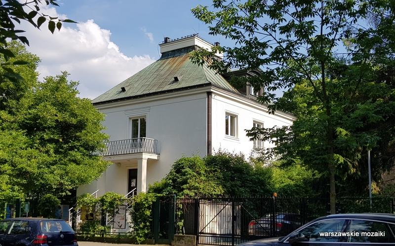 Warszawa Warsaw willa architektura muzea Mokotów pisarz poeta
