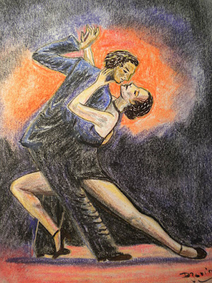 Pastel, Tango argentin passion: Dzovinar Melkonian between 1981-1983