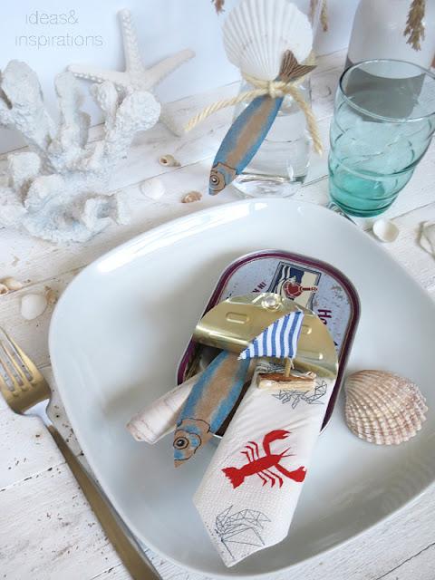 Tischdekoration für den Sommer aus recycling Material basteln