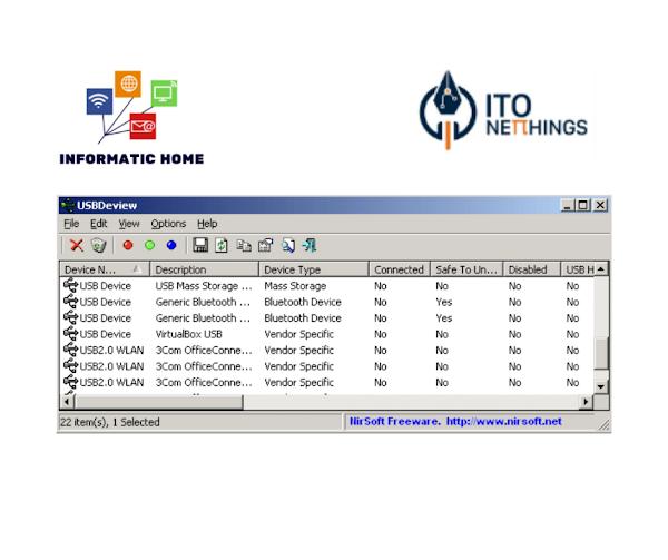 USBDeview - Veja todas as portas USB instaladas no seu sistema operativo Windows!!!