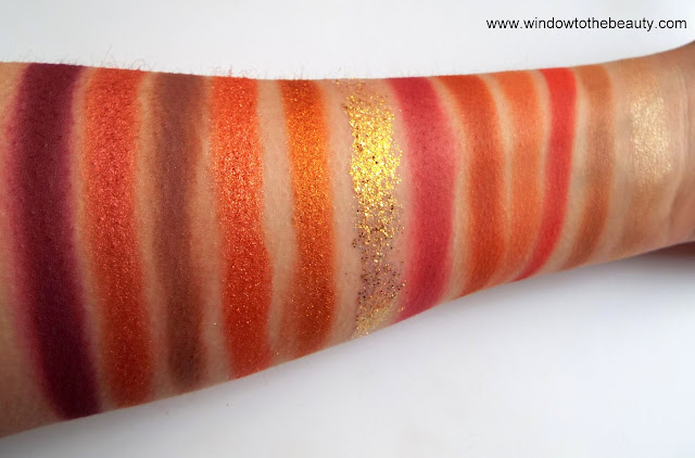 Colourpop the best warm palette swatches