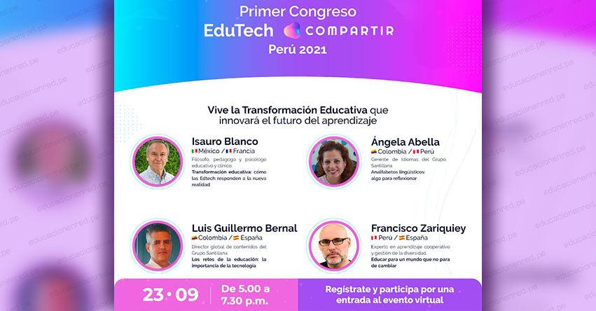 Santillana realiza primer Congreso híbrido para transformar la educación en el Perú