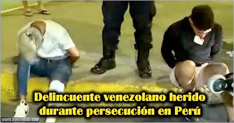 Delincuente venezolano herido durante persecución en Perú