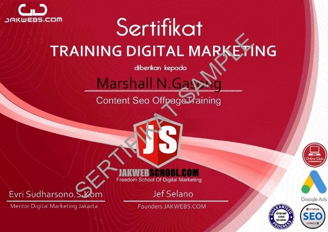 kursus digital marketing terbaik, belajar digital marketing pemula, sertifikasi digital marketing seo onpage