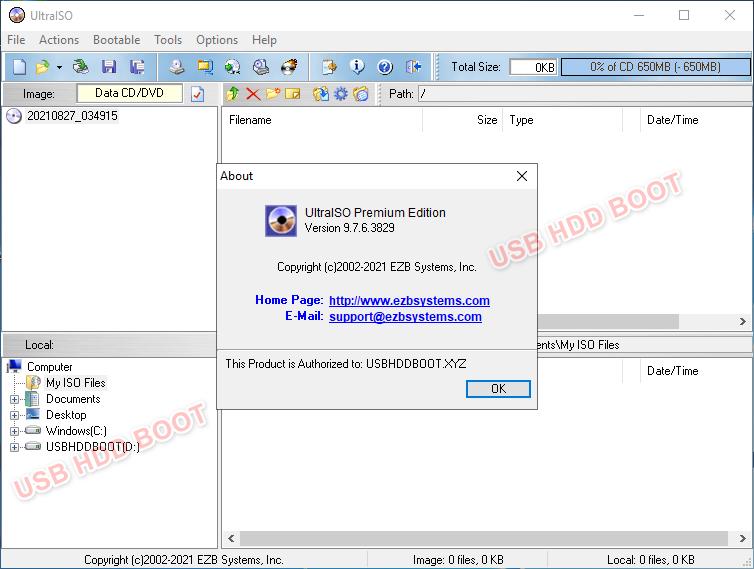 Tải miễn phí UltraISO 9.7.6.3829 Premium Edition [ USB HDD BOOT