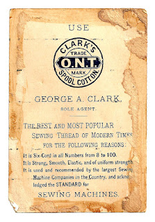advertisement image clark's thread