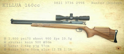 spesifikasi dan harga senapan killua 160cc