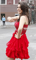 Hansika Motwani in lovely Red Mini Dress Dance Stills 04 .xyz.jpg