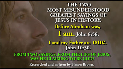 THE TWO MOST MISUNDERSTOOD GREATEST SAYINGS OF JESUS IN HISTORY.