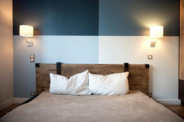 Boa ideia decorativa do dia e barata: pintura do quarto de casal. Blog Achados de Decoração