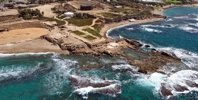Кесария (Цезарея) - морският дворец на цар Ирод I