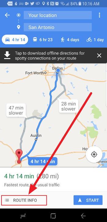 Google Maps ahora te deja saber la mejor hora para salir de viaje