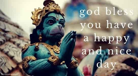 good morning images of god hanuman