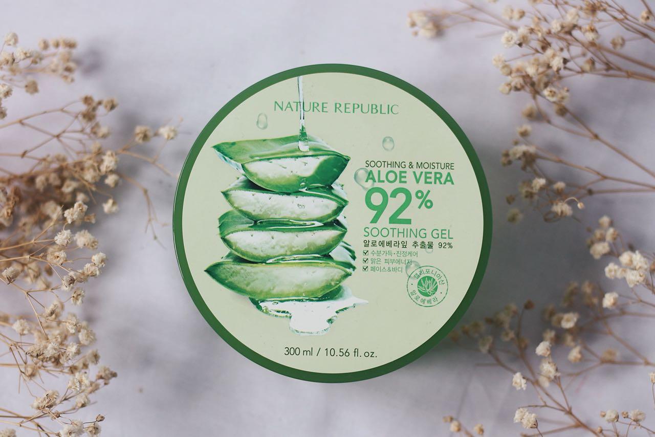 Review Nature Republic Aloe Vera 92 Soothing Gel Herb Blending Toner Brand
