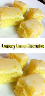 Lemony Lemon Brownies - Dessert