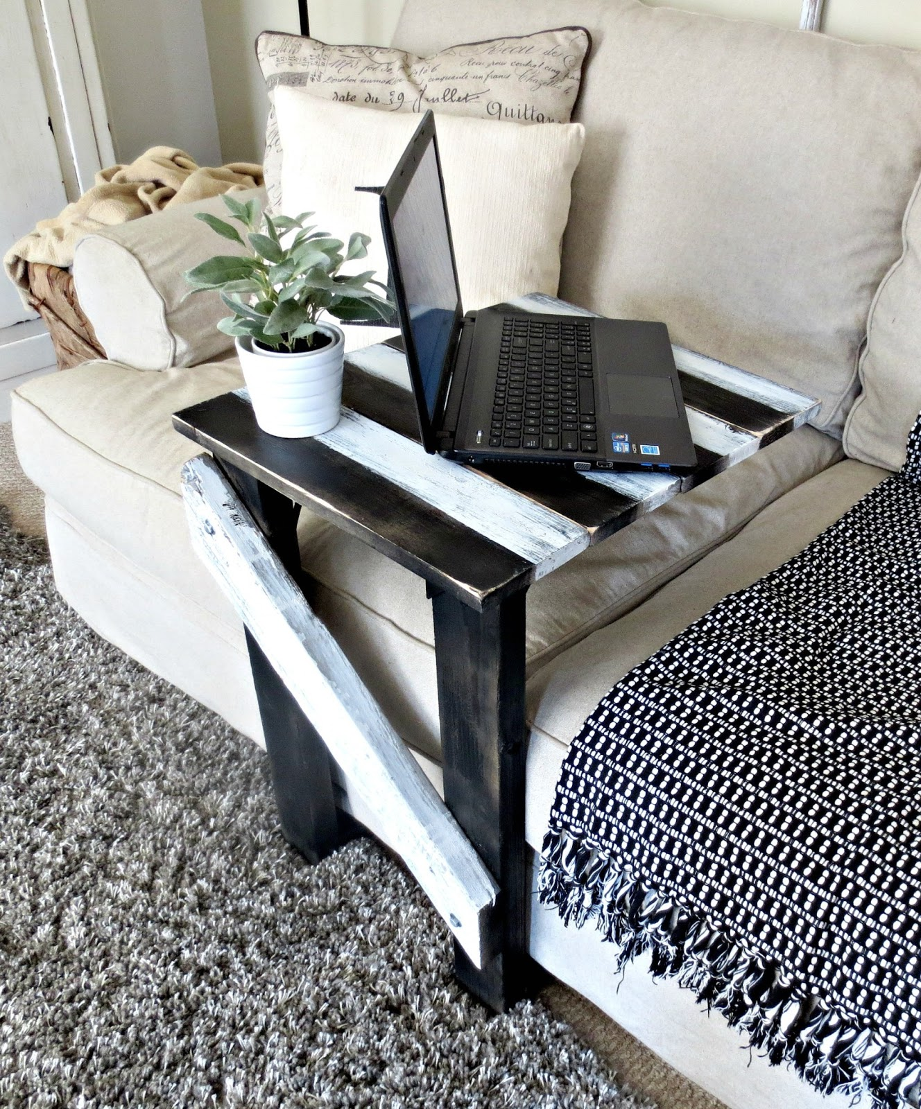 "Build Sofa Table: Down To Earth Style: Make A Sofa ""C"" Table...easily"