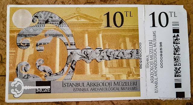 Ingresso para o Museu de Arqueologia de Istambul