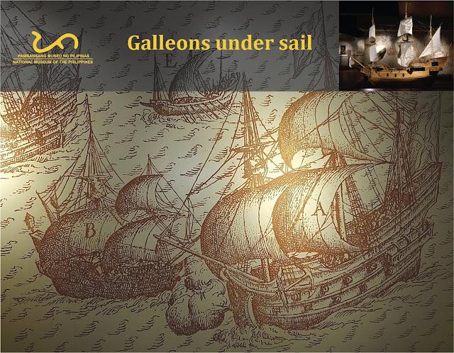 Galleons under sail