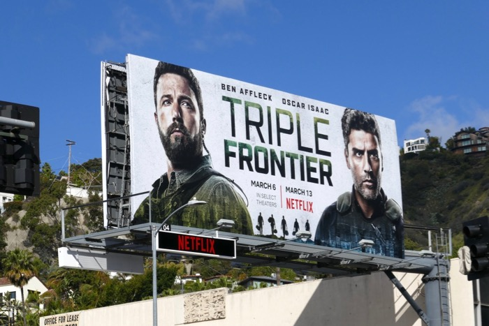 Triple Frontier movie billboard