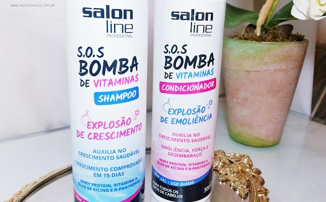 Resenha Shampoo e Condicionador da  Salon Line, S.O.S Bomba de vitaminas, Explosão de Crescimento