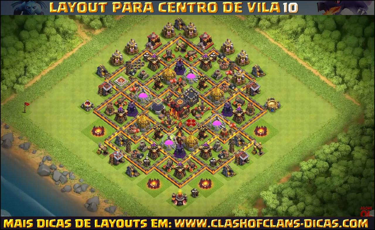 Layouts para CV10 em Clash of Clans - Clash of Clans Dicas
