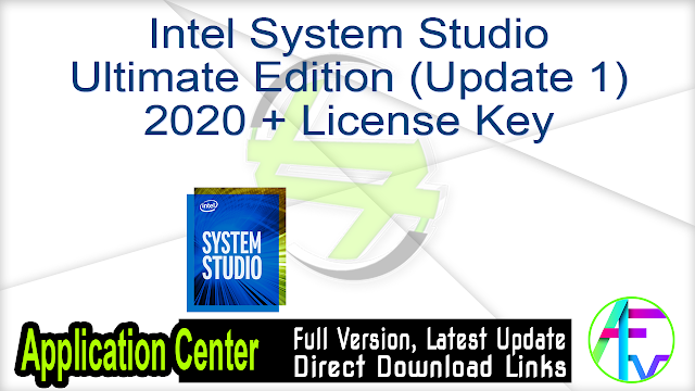 Intel System Studio Ultimate Edition (Update 1) 2020 + License Key