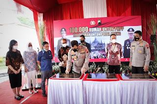 Kapolda Jateng Menghadiri Pencanangan 10 Ribu Rumah Untuk Anggota Polri, 1000 Rumah Ada di Jateng