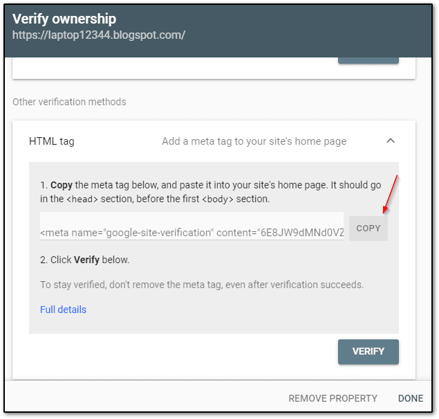 How to Verify Blog to Google Search Console in Hindi | 2020