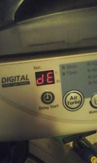 kode DE mesin cuci samsung