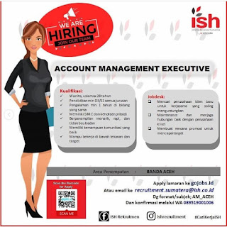 Lowongan Kerja Account Management Executive PT Infomedia Solusi Humanik Penempatan Lhokseumawe