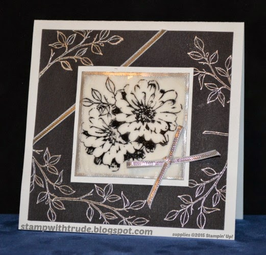 trude thoman, stampwithtrude.blogspot.com, Choose Happiness, Sympathy card, stampin up, floral card