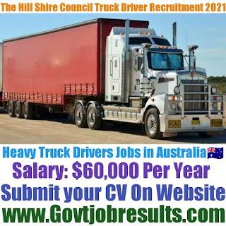 The Hill Shire Council Heavy Truck Driver Recruitment 2021-22