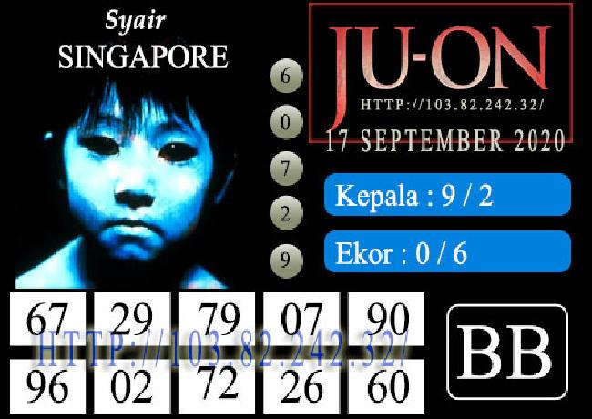 Kode syair Singapore Kamis 17 September 2020 160