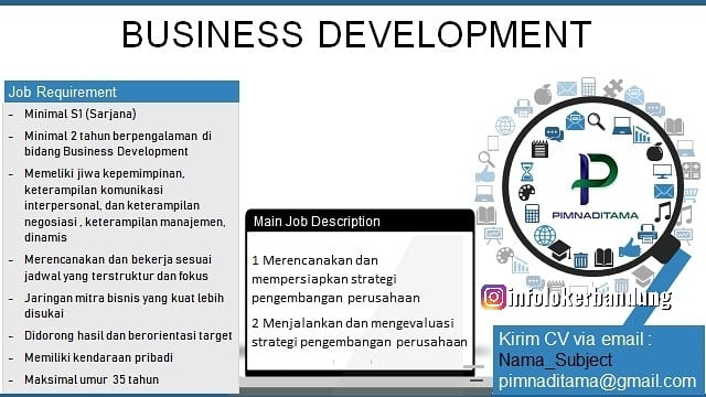 Lowongan kerja CV. Pimnaditama Bandung Juli 2019