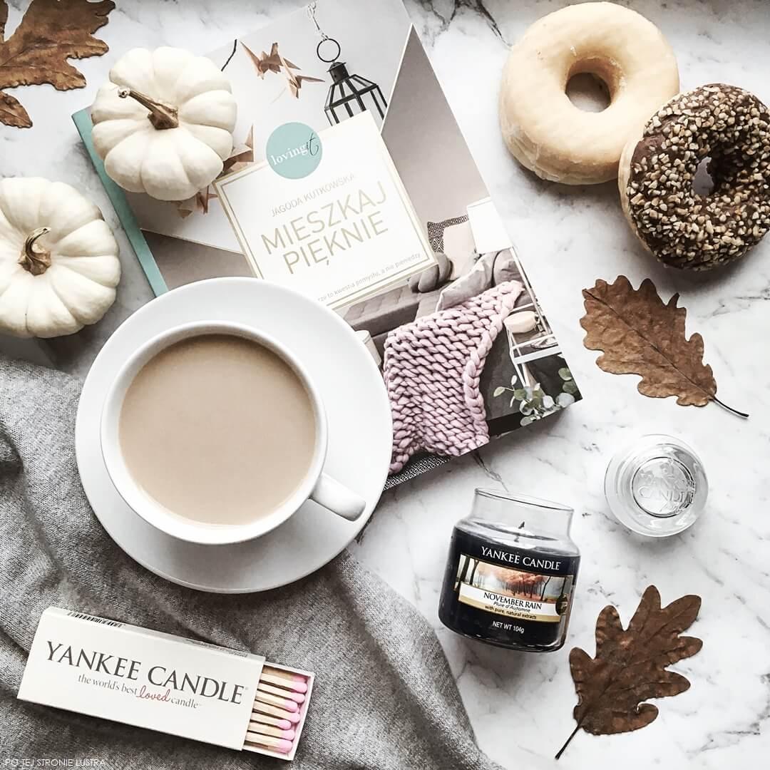 ulubieńcy miesiąca październik 2018 blog i świeca yankee candle november rain