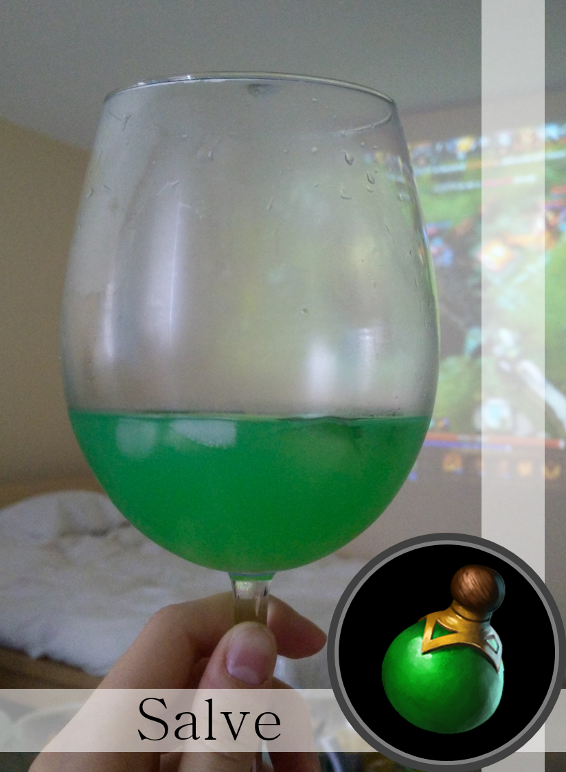 Dota 2 salves made from green lemonade