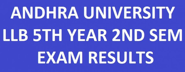 Andhra University LLB 5th Year 2nd Sem Exam Results