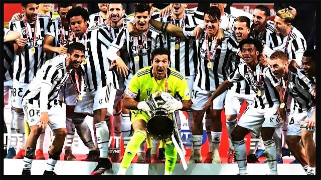 يوفنتوس يتوج بكأس إيطاليا للمرة الرابعة عشر في تاريخه بعد فوزه على أتالانتا بهدفين لواحد