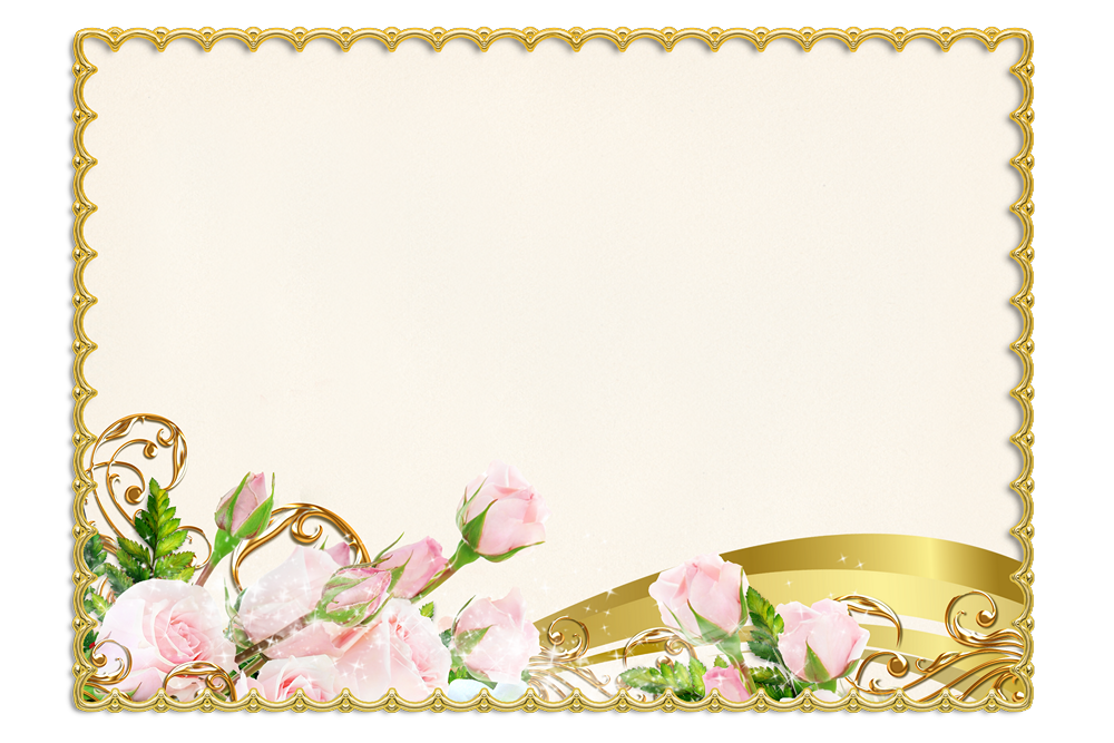 Bordes De Flores Para Tarjetas De Matrimonio