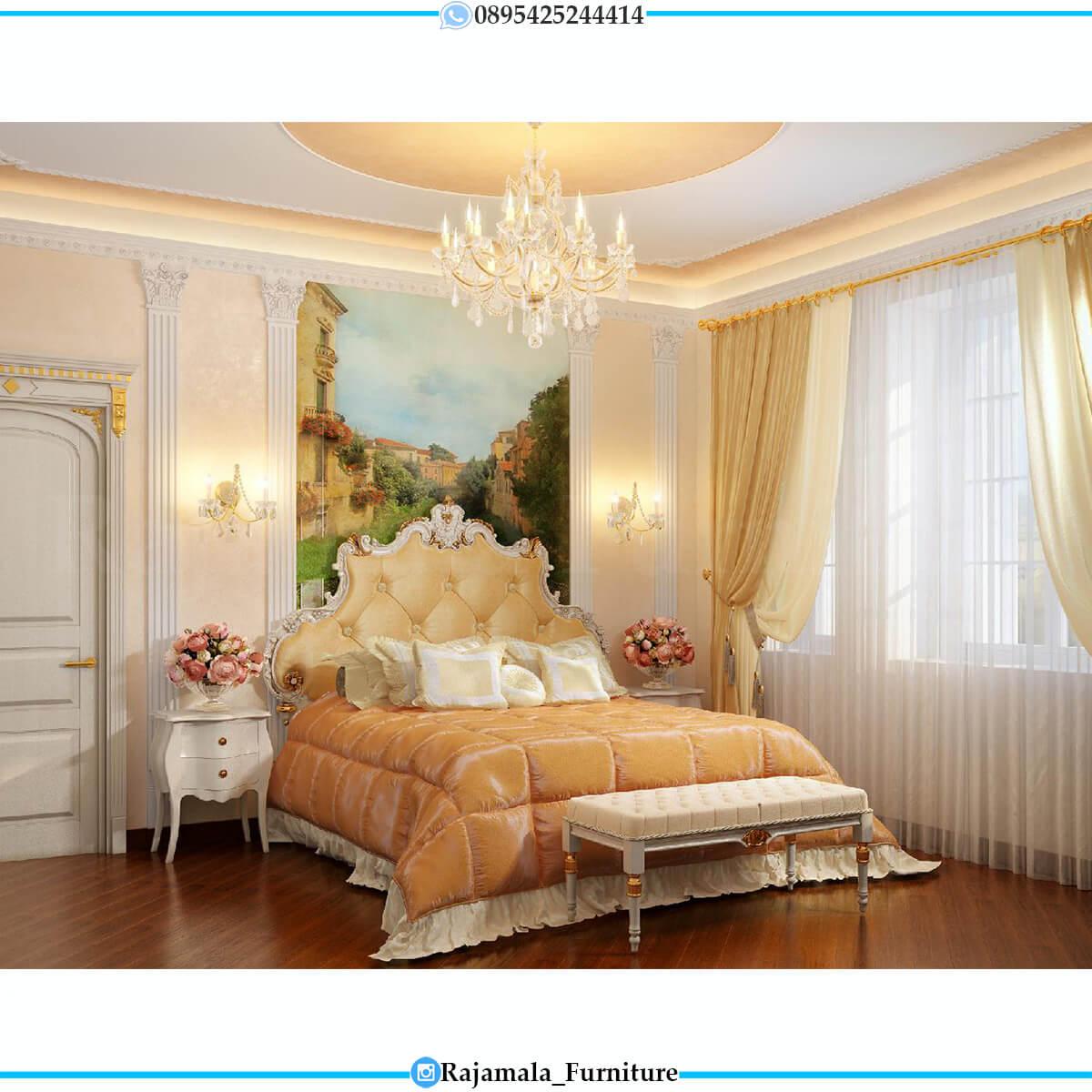 Dipan Mewah Terbaru Luxury Bedroom Sets Classic Carving RM-0653