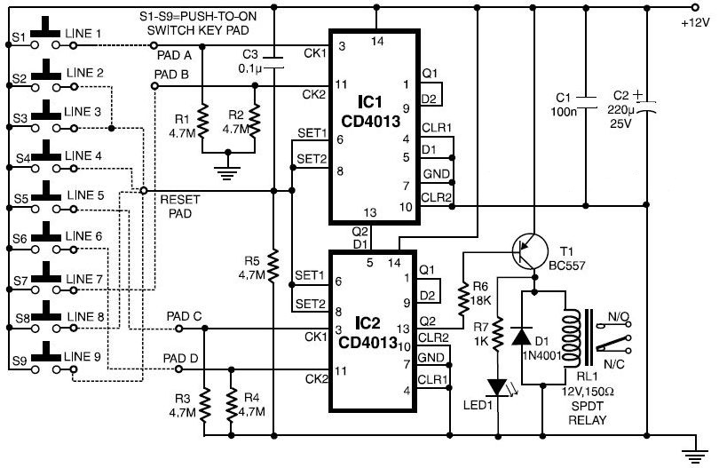 electronic digital lock circuit electel blogspot