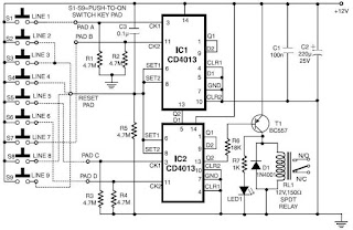 Code Lock Circuit Diagram
