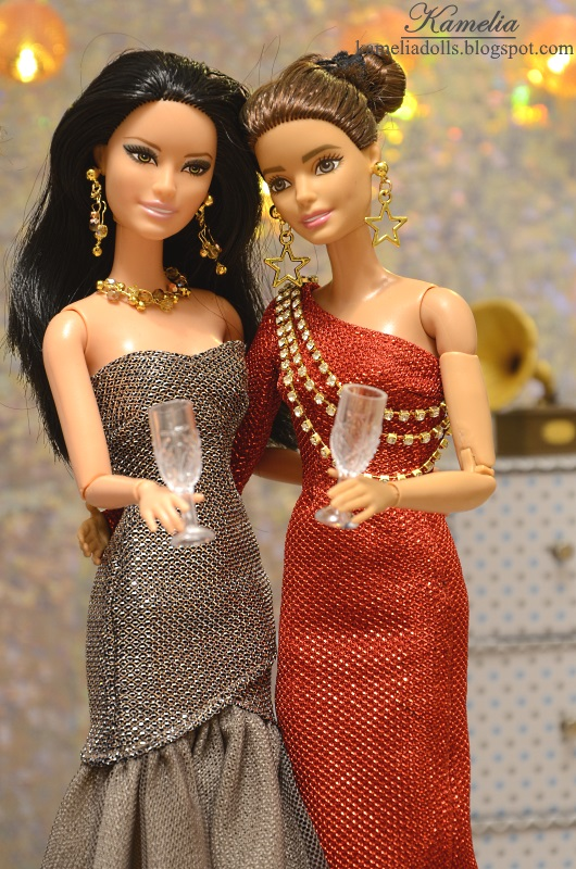 Evening dresses for Barbie dolls.