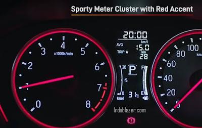 speedometer honda city hatchback 2021