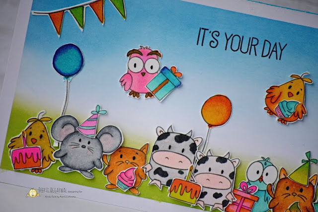 Cute Critter birthday card