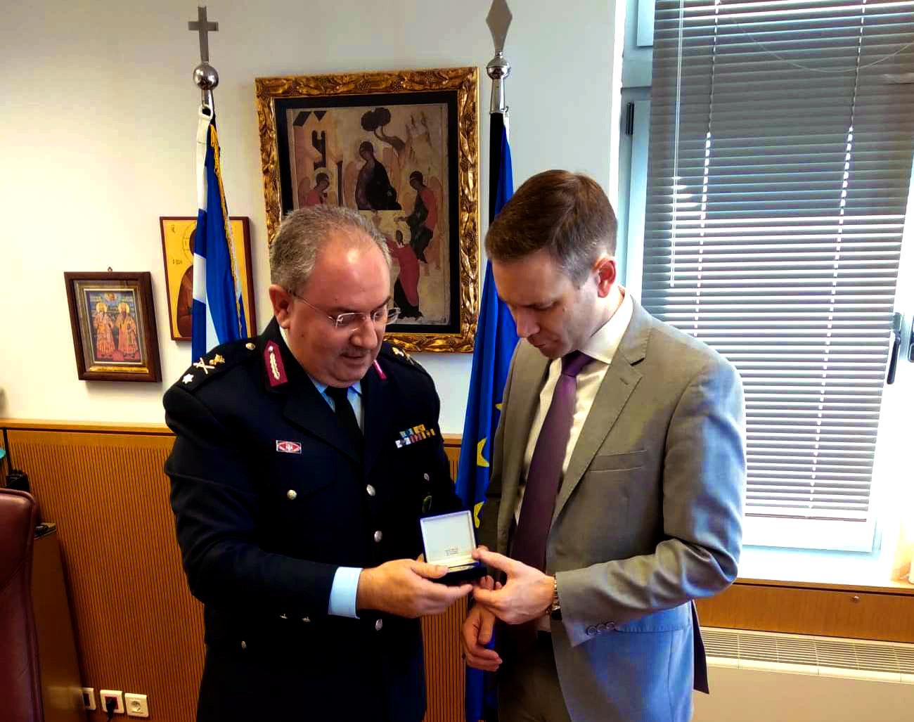 Επίσκεψη του Γενικού Πρόξενου των Η.Π.Α. στη Γενική Περιφερειακή Αστυνομική Διεύθυνση Θεσσαλίας